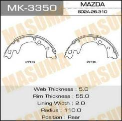 Колодки барабанные MASUMA R-3528 (1/8) MK-3350