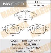 Колодки дисковые MASUMA OPEL/ ASTRA-H front (1/6) MS-0120