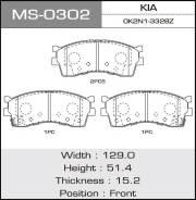 Колодки дисковые MASUMA KIA front (1/12) MS-0302