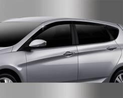 Дефлекторы и ветровики. Hyundai Accent Hyundai Solaris, RB Двигатели: G4FA, G4FC