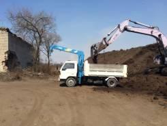 Услуги самосвала 3 тонны с крановой установкой 2.5 тонны