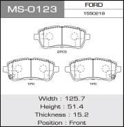 Колодки дисковые MASUMA FORD/FIESTA VI/V1200, V1400, V1600 front (1/12) MS-0123