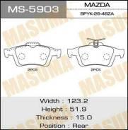 Колодки дисковые MASUMA PREMACY/CREW.CR3W rear (1/12) MS-5903