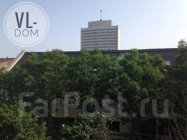 1-комнатная, улица Адмирала Фокина 17. Центр, 32кв.м. Вид из окна днем