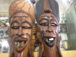 Две маски идут в паре Африка - дерево , красивые 20000 р. Оригинал