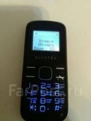 Alcatel. Б/у, до 8 Гб, Черный, Кнопочный