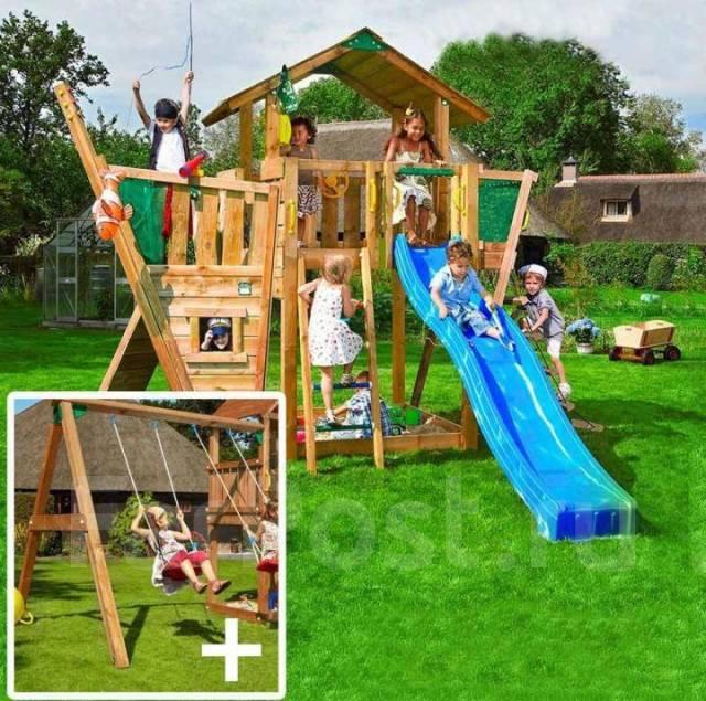 Детская площадка Cottage + boat + swing