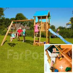 Детская площадка Castle + Swing + roc module