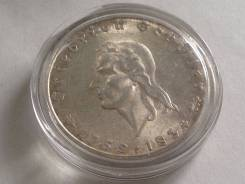2 марки 1934 года Шиллер Серебро UNC
