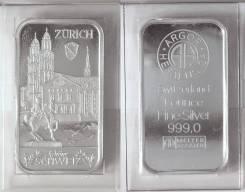 Швейцария Слиток Серебра 999 пробы 1 унция Подлинник