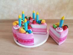 Торт из фетра для детей