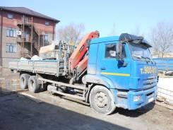 КамАЗ 65117. КМУ Palfinger PK 18500 на шасси Камаз-65117, 6 700 куб. см., 11 850 кг.