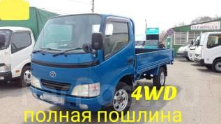 Toyota ToyoAce. Toyota Toyoace 4WD, борт 1,5 тонны, 3 000куб. см.