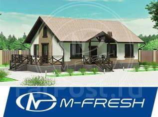 M-fresh Tili-Tili Wood! (В проекте дома из бруса терраса, мансарда). 100-200 кв. м., 1 этаж, 3 комнаты, дерево
