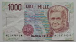 Италия. 1 000 лир 1990 года.