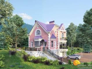 Красивая архитектура. Проект дома. Фасад из кирпича. Дизайн интерьеров