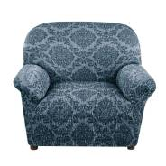 "Еврочехол ""Жаккард ламе"" Дымчато-синий на кресло"