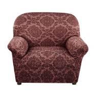 """Еврочехол """"Жаккард ламе"""" Красный на кресло"""
