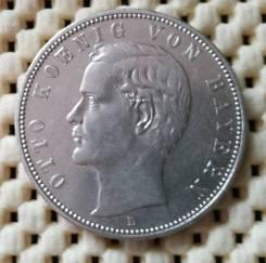 Бавария (Германия) 5 марок 1903г Ag900 Супер!