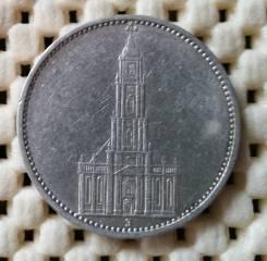 Германия 5 марок 1934г (J) Ag900 Кирха