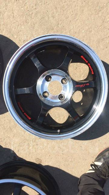 "Black Racing. 7.0x16"", 4x100.00, ET44"