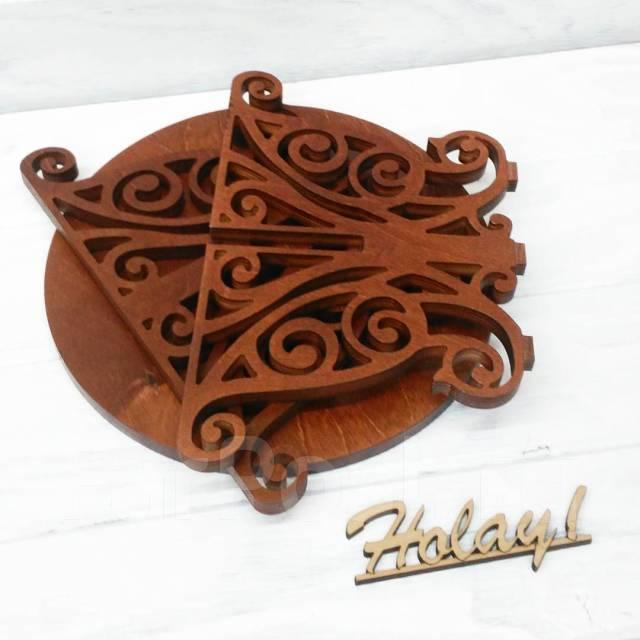 Подставка для торта, тортовница (деревянная, в наличии)