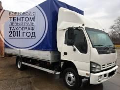 Isuzu NQR. -75. Левый руль. Борт-тент 2011 год 5 Тонн! в Новосибирске, 5 200 куб. см., 5 000 кг.