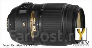 Nikkor AF-S 55-300mm f/4.5-5.6G VR 55-300 DX. Для Nikon, диаметр фильтра 58 мм
