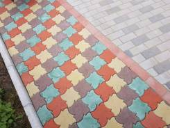 Укладка брусчатки, камня, тротуарной плитки