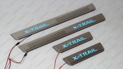 Накладка на порог. Nissan X-Trail, T32