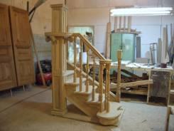 Деревянные лестницы, двери, окна, мебель по индивидуальному заказу