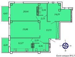 3-комнатная, улица Успенского 56. Океанская, частное лицо, 96кв.м.