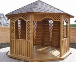 Резные деревянные дачные строения