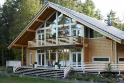 Строительство дома, коттеджа из деревянного кирпича