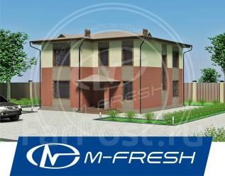 M-fresh Zenit (Архитектурно-строительный проект дома, фасад навесной). 100-200 кв. м., 2 этажа, 5 комнат, бетон