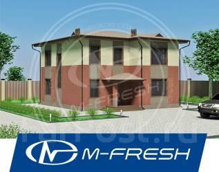 M-fresh Zenit-зеркальный (Навесной фасад под коричневый кирпич! ). 100-200 кв. м., 2 этажа, 5 комнат, бетон