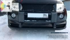Накладка на бампер. Mitsubishi Pajero, V83W, V85W, V87W, V88W, V93W, V97W, V98W Двигатели: 4M40, 4M41, 6G72, 6G74, 6G75
