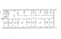 Офисные помещения в г. Биробиджане. 386кв.м., улица Пионерская 67, р-н Центральный. План помещения