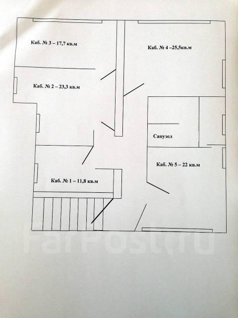 Уютные офисы!. 25кв.м., улица Станюковича 48/5, р-н Эгершельд. План помещения