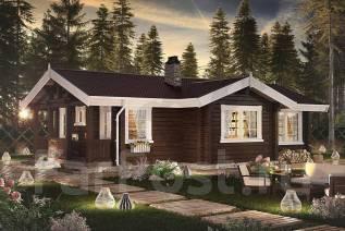 """Проект дома """"Корунд - 1"""". до 100 кв. м., 1 этаж, 3 комнаты, дерево"""