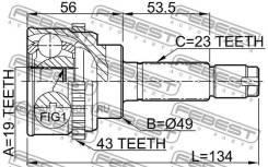 Шрус подвески. Mazda AZ-Wagon, MJ22S Nissan Pino, HC24S Nissan Moco, MG22S Suzuki Swift, HT51S, HT81S Suzuki Kei, HT51S, HT81S Двигатель K6A