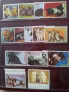 Экваториальная Гвинея. 14 марок с кошками и котятами. Новый лист в под