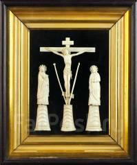Голгофа: Распятие Господа Иисуса Христа с предстоящими». Россия, Xviii. Оригинал
