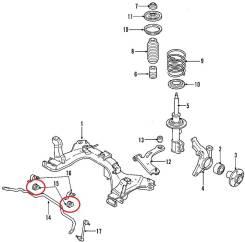 Втулка стабилизатора. Ford Escape Двигатель DURATEC23