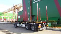 Steelbear. Трёхосный прицеп-сортиментовоз (12 т, двускатная ошиновка), 29 000кг.