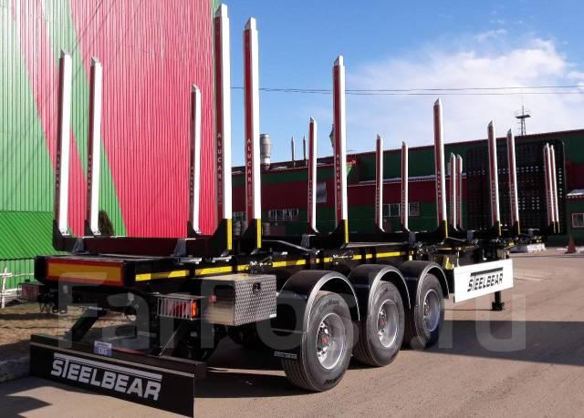 Steelbear. Полуприцеп сортиментовоз с кониками-телескопами Alucar XL5, 37 100кг.