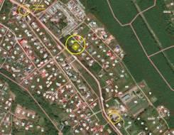 Продам участок с адресом на Речной улице. 1 200кв.м., собственность, электричество, вода. План (чертёж, схема) участка
