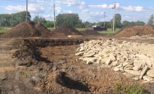Благоустройство подготовка участка под строительство, отсыпка територии