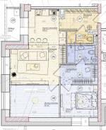 3-комнатная, улица Поселковая 2-я 3в. Чуркин, частное лицо, 82кв.м. План квартиры