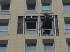 Ремонт вентилируемого фасада - гидроизоляция пластиковых окон
